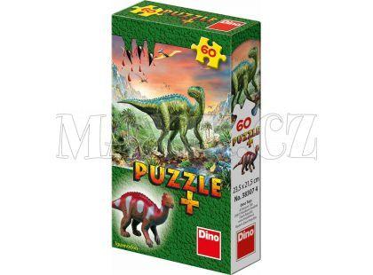 Dino Puzzle Dinosauři s figurkou 60 dílků - Iguanodon