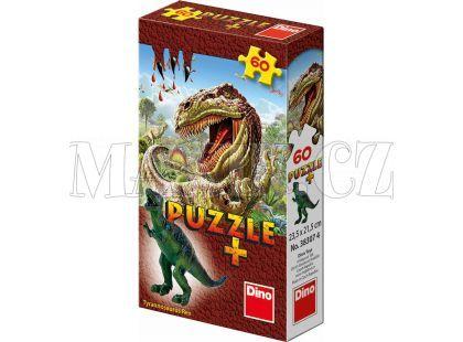 Dino Puzzle Dinosauři s figurkou 60 dílků - Tyrannosaurus Rex