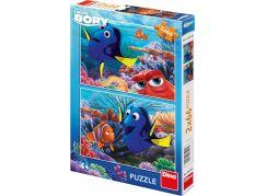 Dino Puzzle Disney Dory mezi korály 2x66 dílků