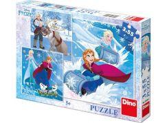 Dino Puzzle Disney Frozen Zimní radovánky 3 x 55 dílků