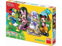 Dino Puzzle Disney Mickey a kamarádi 4x54dílků
