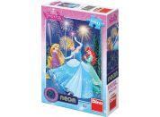Dino Puzzle Disney Princezny neon 100XL dílků