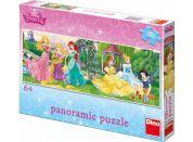 Dino Puzzle Disney Princezny Panoramic na promenádě 150 dílků