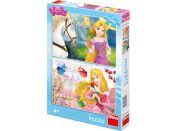 Dino Puzzle Disney Princezny portréty 2x66 dílků