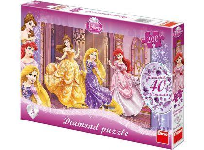 Dino Puzzle Disney princezny s diamanty