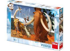 Dino Puzzle Doba ledová partička 66 dílků