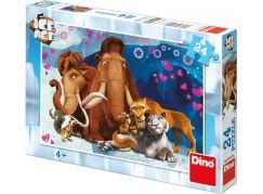 Dino Puzzle Doba ledová zamilovaní 24 dílků