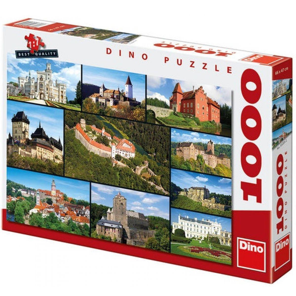 Dino Puzzle Hrady a zámky 1000dílků