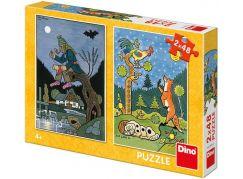 Dino Puzzle Josef Lada Pohádky 2 x 48 dílků - Poškozený obal