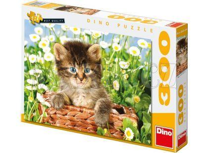 Dino Puzzle Kotě v koši 300 dílků