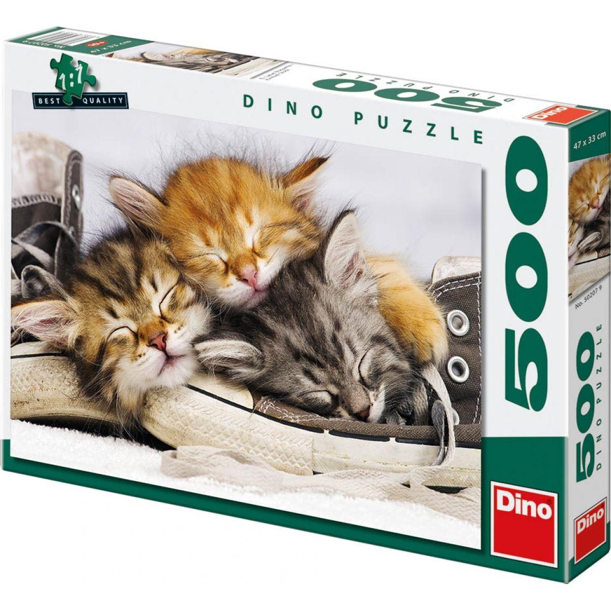 Dino Puzzle Kotě v botě 500dílků