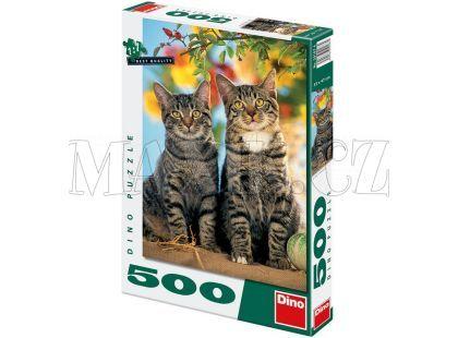 Dino Puzzle Koťátka 500dílků