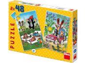 Dino Puzzle Krteček se raduje 2x48 dílků