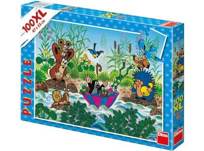 Dino Puzzle Krtečkova plavba 100XL