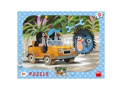 Dino Puzzle Krteček a autíčko 12 dílků