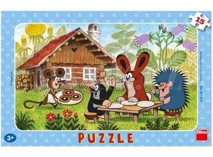 Dino Puzzle Krteček na návštěvě 15d