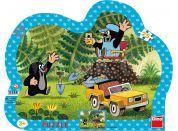 Dino Puzzle Krteček se žlutým autem 25 dílků