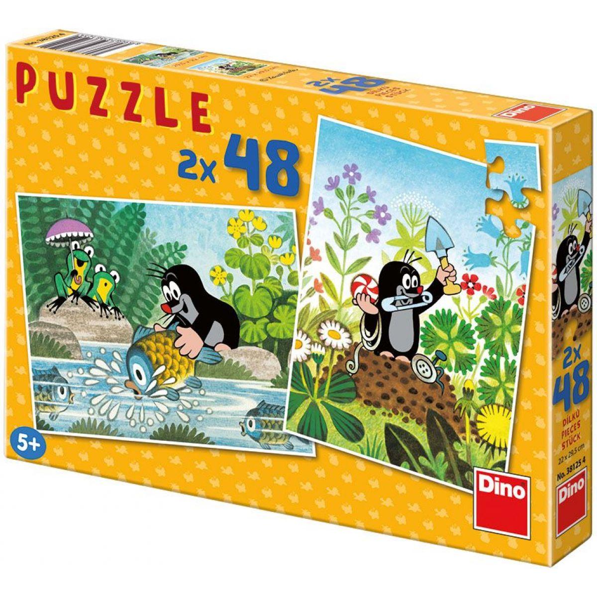 Dino Puzzle Krtek 2x48 dílků