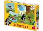 Dino Puzzle Krtek a kalhotky 3x55 dílků