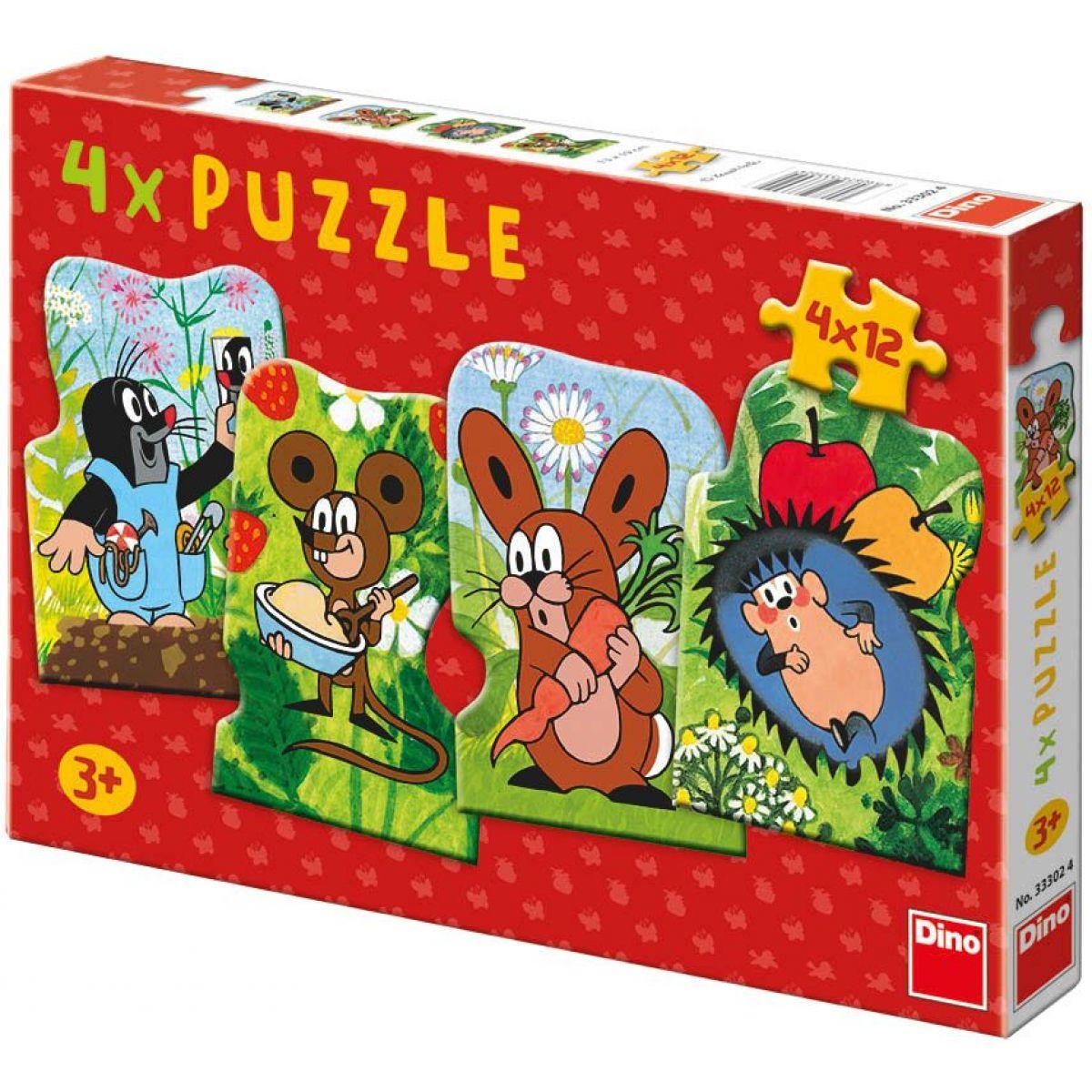 Dino Puzzle Krtek a kamarádi 48dílků