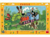 Dino Puzzle Krtek a lokomotiva 15d