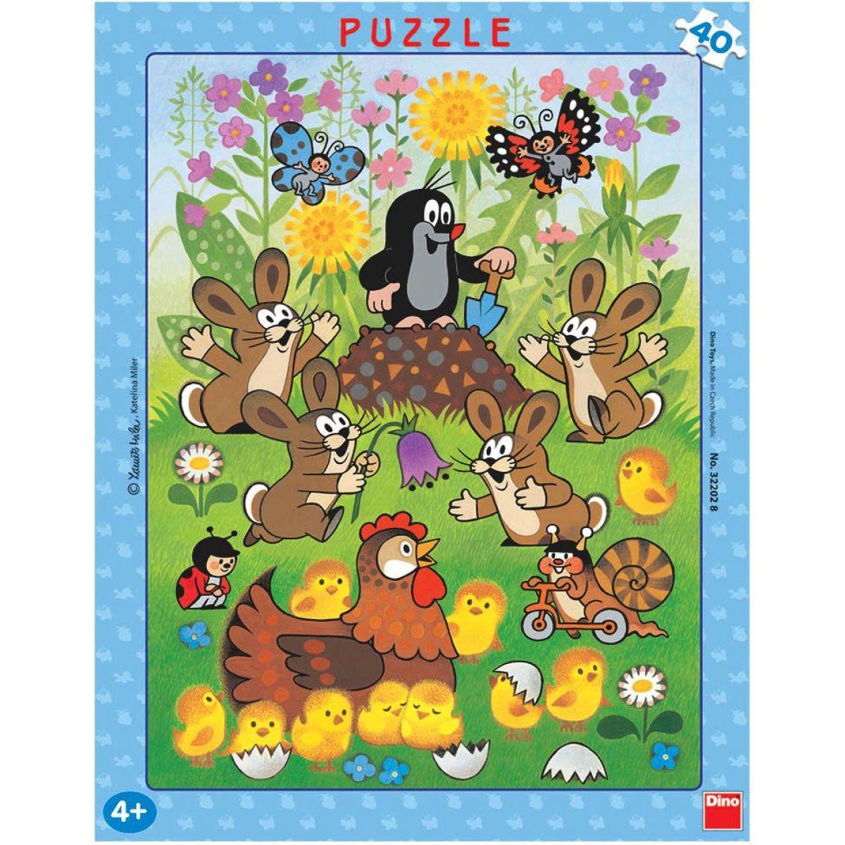 Dino Puzzle Krtek a velikonoce 40d