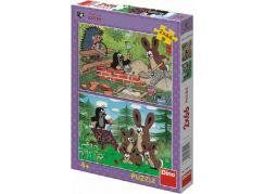 Dino Puzzle Krtek a Zajíc 2 x 66 dílků