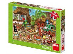 Dino puzzle Krtek v kuchyni 100 XXL dílků