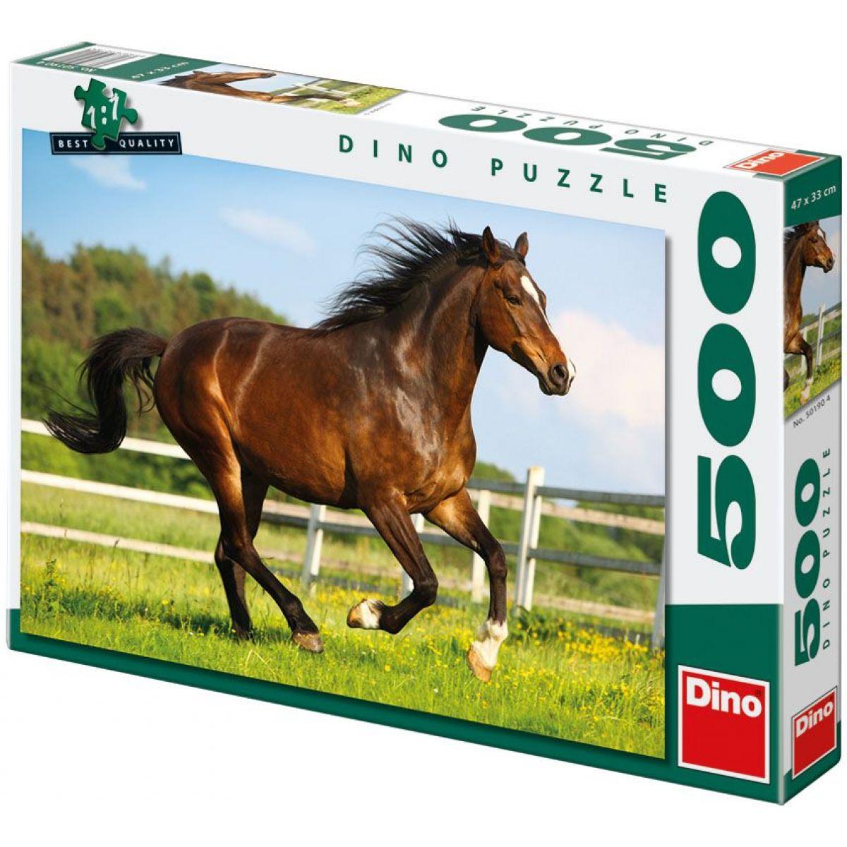 Dino Puzzle Kůň ve výběhu 500dílků