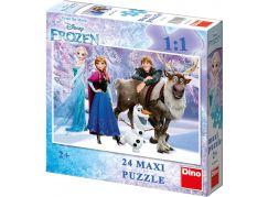 Dino Puzzle Ledové království Elsa a přátelé 24 Maxi dílků