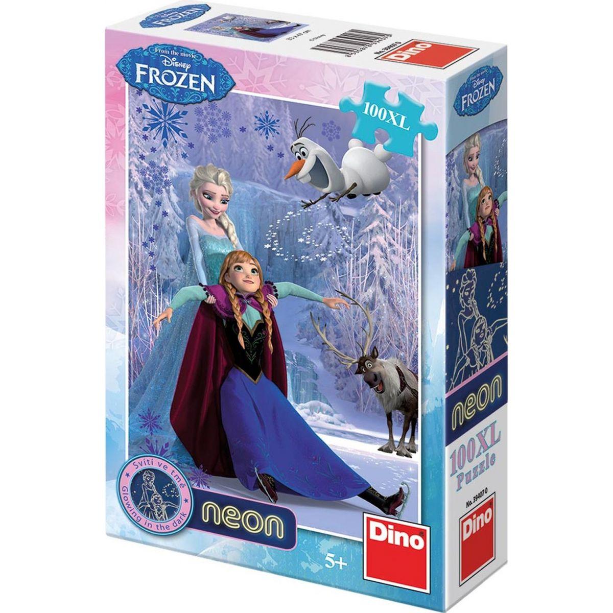 Dino Puzzle Ledové království neon 100XL dílků