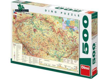 Dino Puzzle Mapa České republiky 500dílků