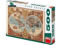 Dino Puzzle Mapa světa z roku 1626 500dílků