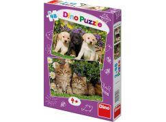 Dino Puzzle Mazlíčci 2x48 dílků