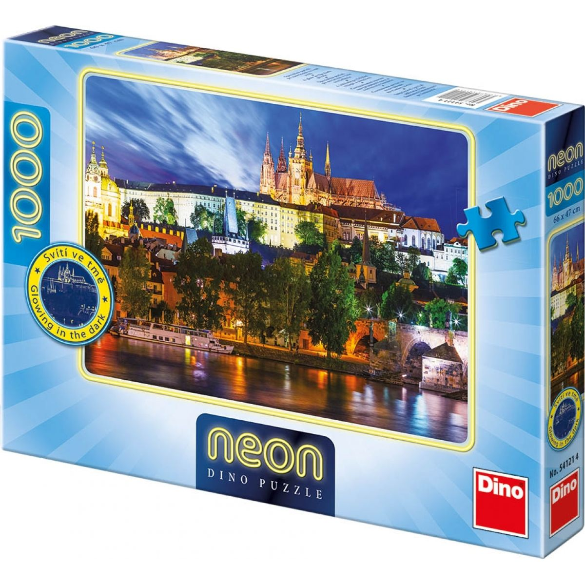 Dino Puzzle Neon Letní noc v Praze 1000dílků