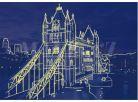 Dino Puzzle Neon Tower Bridge 1000dílků 3