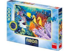 Dino Puzzle Neon Život pod mořem 1000 dílků