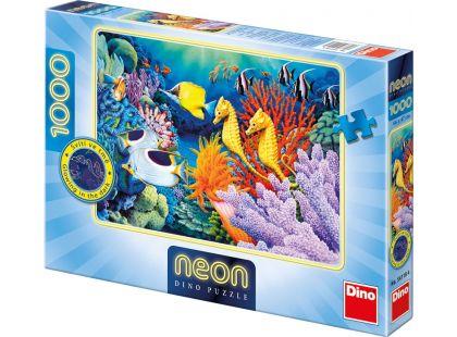 Dino Puzzle Neon Život pod mořem 1000dílků