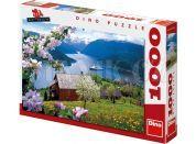 Dino Puzzle Norský fjord 1000dílků