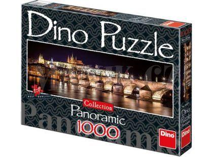 Dino Puzzle Panoramic Hradčany v noci 1000dílků