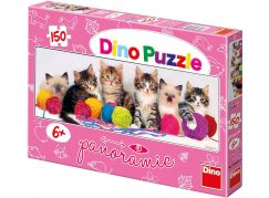 Dino Puzzle Panoramic Kočičky s klubíčky 150 dílků