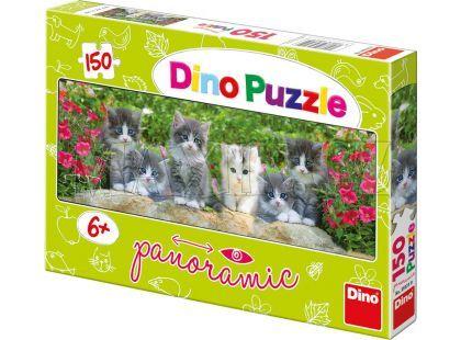 Dino Puzzle Panoramic Koťátka v zahradě 150 dílků