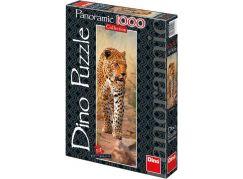 Dino Puzzle Panoramic Leopard z Keni 1000 dílků