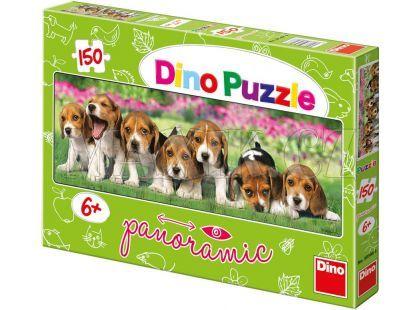 Dino Puzzle Panoramic Psi Bíglové 150 dílků