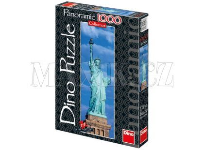 Dino Puzzle Panoramic Socha Svobody 1000dílků