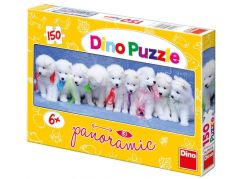 Dino Puzzle Panoramic Štěňátka s mašličkami 150dílků
