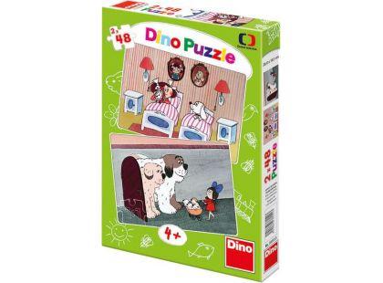 Dino Puzzle Pohádky s pejsky 2x48dílků