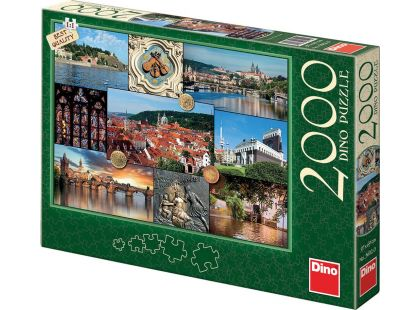 Dino Puzzle Pohledy na Prahu 2000 dílků