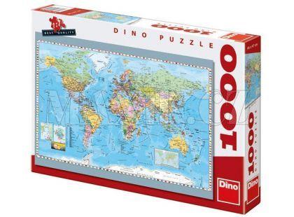 Dino Puzzle Politická mapa světa 1000dílků