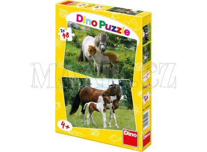 Dino Puzzle Poníci a koníci 2x48dílků